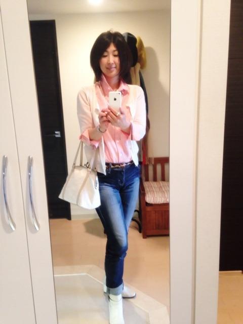 桜色のシャツで行ってきます♪